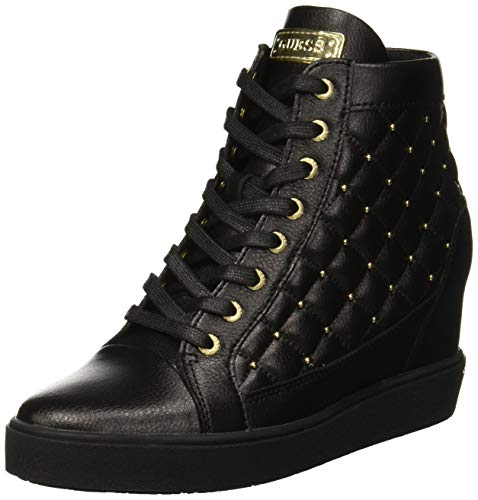 Womens nero Guess High Black Boots nero Furr BCwtqtn78