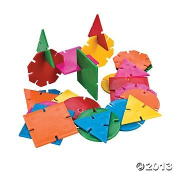 - OTC - Creative BUILDING TOY Developmental Geometric Connecting Shapes (1-Pack of 400)