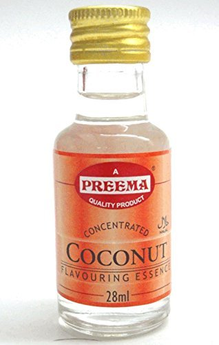 6 x PURE COCONUT ESSENCE **FREE UK POST** NATURAL COCONUT EXTRACT LIQUID COOKING FOOD CAKES BAKING FLAVOUR FRUIT ESSENCE by Preema by preema (Image #1)'