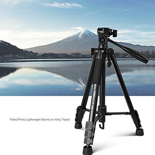 XUEME Travel Tripod, Portable Aluminum Phone Tripod Extension 144cm 3D PTZ Camera Bracket for Digital SLR Camera