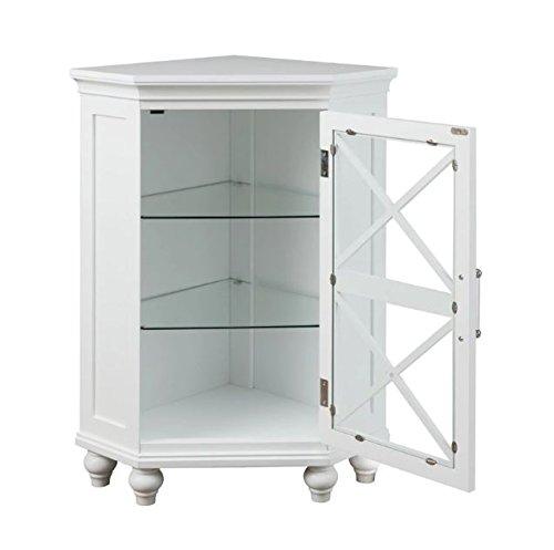 Perfect Grayson Corner Floor Cabinet With White Shutter Door