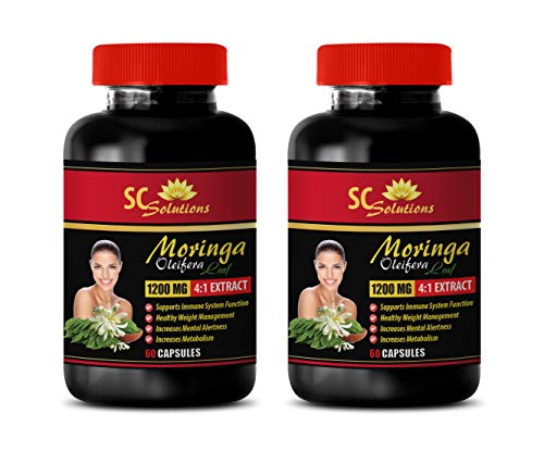 Natural Weight Gainer - Moringa OLEIFERA Extract - Moringa Extract - 2 Bottle 120 Capsules (Best Weight Gainer Supplement For Men In India)
