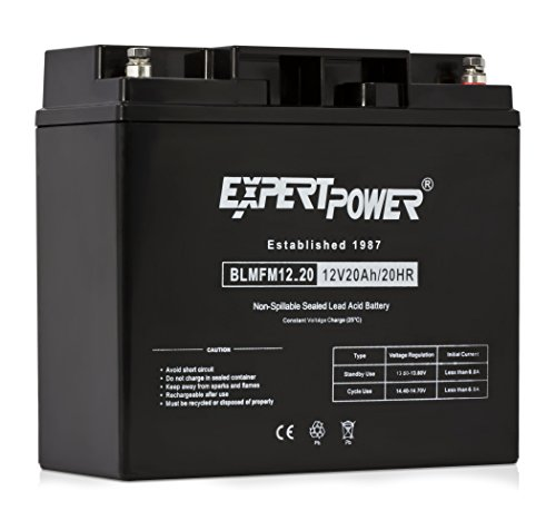 ExpertPower EXP12200 12 Volt 20 Ah Rechargeable Battery With Threaded