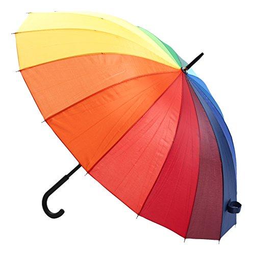 Jane Austin Femme parapluie arc-en-ciel, multicolore, Taille unique