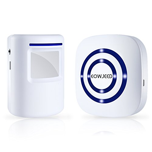 Review EOWJEED Wireless Driveway Alert, Home Security Driveway Alarm, Visitor Door Bell Chime with 1...
