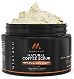 100% Natural Coffee Scrub w/Moroccan Argan Oil + Calendula + Almond Oil + Shea Butter | Ultra hydrating & Soothing. Anti Acne Face Exfoliant. Black heads, Acne Scars. Excellent for Face & Body