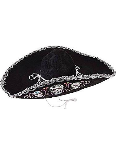 Day of the Dead Sugar Skull Deluxe Sombrero