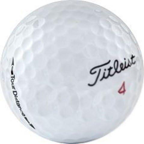 50 Titleist Tour Distance AAAAA Recycled Golf Balls, Like New, 50-Pack