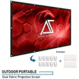 Akia Screens 120 inch Indoor Outdoor Collapsible Portable Projector Screen 16:9 Anti-Crease Foldable Dual Front Rear 8K 4K Ultra HD 3D Ready Movie and Home Theater AK-DIYOUTDOOR120H1