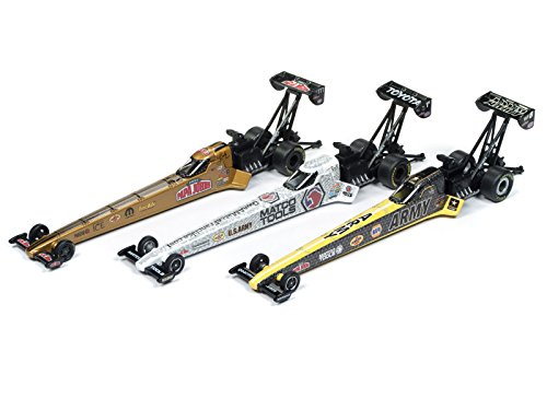 NHRA Top Fuel Dragster Release 1 Set of 3 Cars 1/64 Diecast Models by Autoworld AW64004