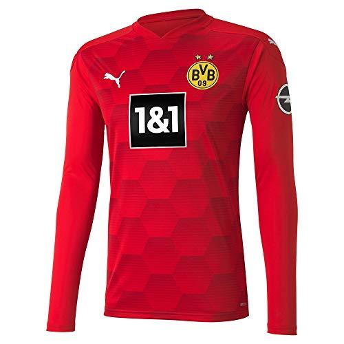 PUMA T-Shirt BVB Gk Replica LS W.Sponsor pour Homme S Puma - Rouge