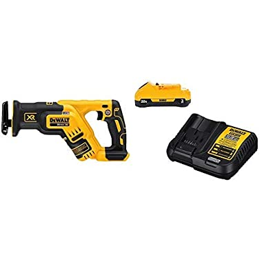 DEWALT DCS367B 20V Max XR Brushless Compact Reciprocating Saw, (Tool Only), with DCB230C 20V Battery Pack