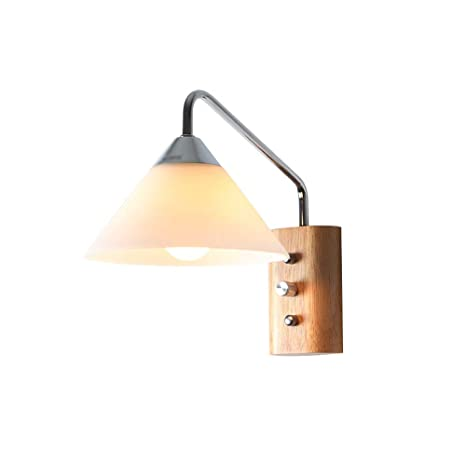 Amazon.com: Sharon Nordic Style Wooden Creative Wall Lamp ...