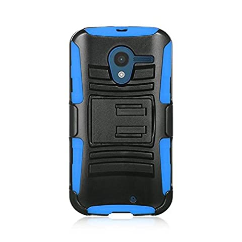 Motorola Moto X(1st Gen) Case, Dreamwireless Dual Layer [Shock Absorbing] Protection Hybrid PC/Silicone Holster Case Cover For Motorola Moto X(1st Gen), (Moto X 1st Gen Phone Covers)