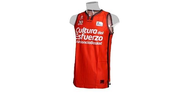 Camiseta de baloncesto oficial Valencia Basket. Liga Endesa 2016/17. 1ª Equipación (S): Amazon.es: Deportes y aire libre