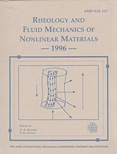 Rheology and Fluid Mechanics of Nonlinear Materials 1996: Presented
