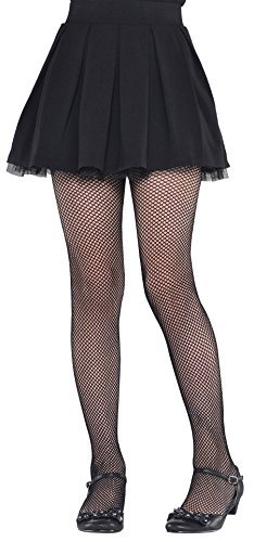 Black Fishnet Kids Tights - Child (Tights Girls Costumes Stockings)