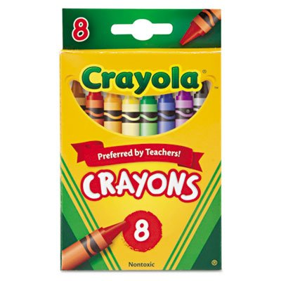 Classic Color Pack Crayons, 8 Colors/Box, Total 384 EA by Crayola