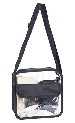 Clear Messenger Cross-Body Bag with Strap Shoulder Pocketbook NFL Approved (Pocketbooks Under 10)