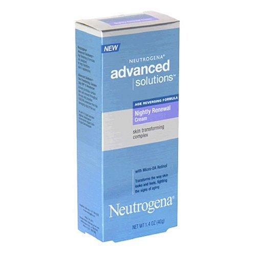Neutrogena Advanced Solutions Skin Transforming Complex Nightly Renewal Cream, Age Reversing Formula, 1.4 Ounce -