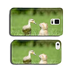 Cat and Indian Runner Duck cell phone cover case Samsung S5