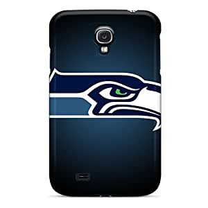Shock Absorbent Hard Phone Cover For Samsung Galaxy S4 (WuL15855yLVM) Support Personal Customs Colorful Seattle Seahawks Skin