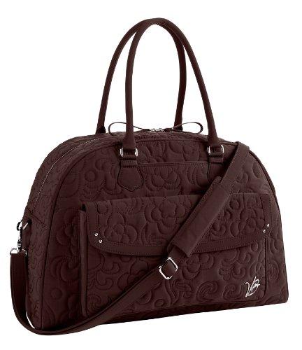 Vera Bradley Vera Vera Microfiber Collection - Overnighter Bag in Espresso Brown Overnighter Bag Handbags