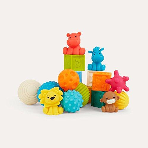 Infantino Sensory Bauklötze Tiere, Spielzeug, mehrfabrig Infantino Bkids 005373