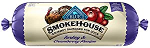 BLUE Smokehouse Sausage Turkey & Cranberries Wet Dog Food Roll, 2.25 lb