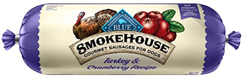 Dog Food Roll (BLUE Smokehouse Sausage Turkey & Cranberries Wet Dog Food Roll, 2.25)