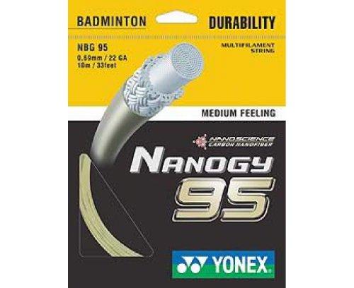YONEX Nanogy 95 Cordaje de Bádminton Individual
