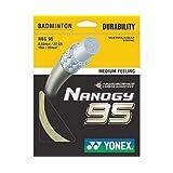 Yonex Nanogy BG 95 Badminton String - Silver Grey