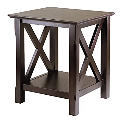 Winsome Xola Occasional Table, Cappuccino - Wood End Table Traditional/modern design Shelf for storing or display - living-room-furniture, living-room, end-tables - 41R1Zi5QxkL. SS400  -