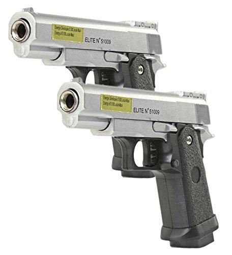 Softair Pistole Stahl Waffe 2 STÜCK Airsoft VOLLMETALL Munition Zubehör Markierer