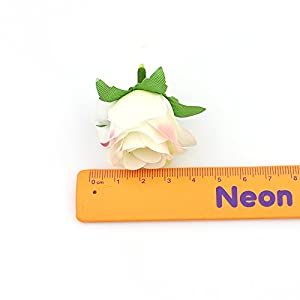 Flower Head in Bulk Wholesale for Crafts Artificial Silk Rose Fake Scrapbooking Flowers Ball DIY Party Festival Home Decor Wedding Decoration 30pieces 3-4cm 2