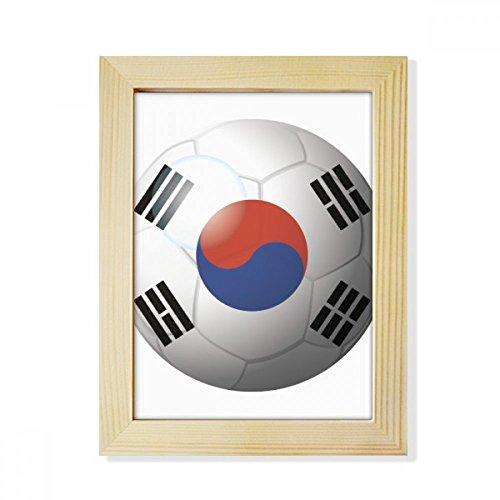 DIYthinker Korea National Flag Soccer Football Desktop Wooden Photo Frame Picture Art Painting 6x8 inch by DIYthinker