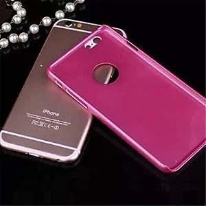 Caso de la cubierta del brillo sólido bling de lujo con el agujero para el iphone 6 (colores surtidos) ( Color : Blanco , Modelos Compatibles : IPhone 6s/6 )