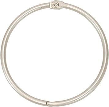 Amazon.com: Kiera Grace Circular Metal Shower Curtain Rings, Nickel ...