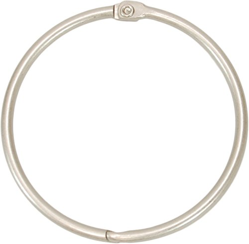 Kiera Grace Circular Metal Shower Curtain Rings, Nickel Finish - Set of 12