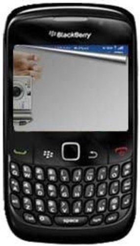 Amzer Mirror Screen Protector with Cleaning Cloth for BlackBerry Curve 8520