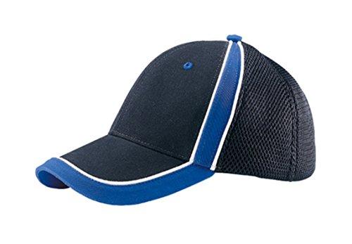 G-flex Canvas (G Men's Low Profile Brushed Canvas Sports Mesh Cap (Black Royal)