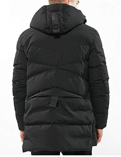 Thicken Coat Black H Jacket Men's Down Quilted Parkas Hooded amp;E Outerwear XvxTwzvA
