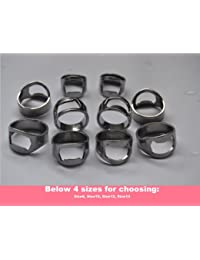 CheckOut 10pcs Set Silver Color Stainless Steel Beer Ring Bottle Opener with 4 Mixing Sizes: Size8, Size10, Size12, Size14 cheapest