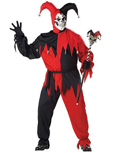 California Costumes Mens Evil Jester Plus Adult Halloween Costume Plus 48-52