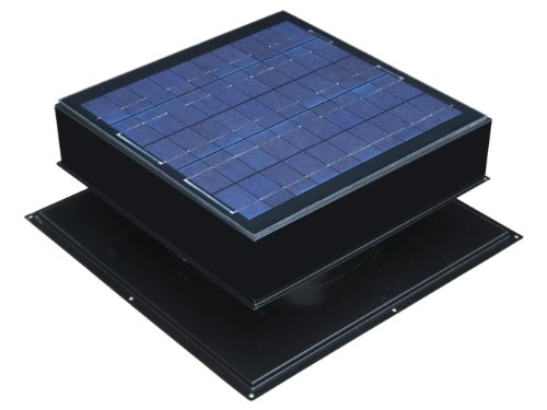 Solar Attic Roof Mount Black