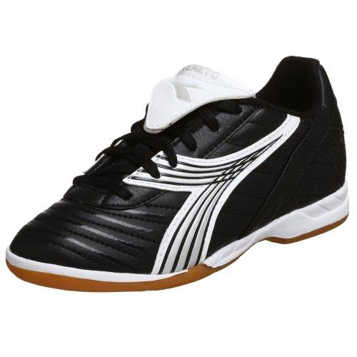 Diadora Little Kid/Big Kid Veneto ID Jr Indoor Soccer Shoe,Black/White,2.5 M Little Kid