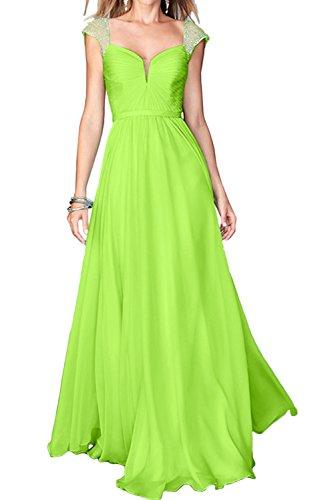 Promkleider Trager Linie Ivydressing Festkleid A Partykleider Damen Grün Chiffon Abendkleider IOwP8nZ