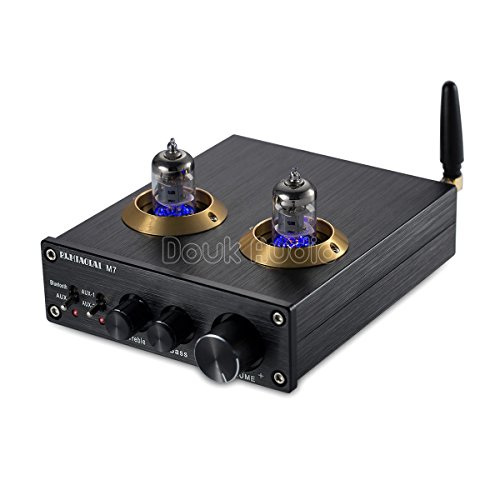 Nobsound Bluetooth HiFi 6J1 Vacuum Tube Preamplifier Stereo PreAmp Digital Treble & Bass Tone Control - Fi Hi Digital