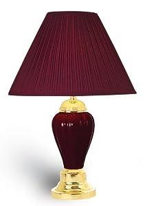 Amazon.com: OK Lighting Burgundy Ceramic Table Lamp: Home & Kitchen