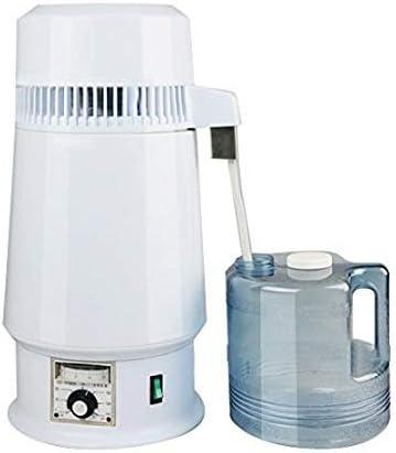 Distilador de agua puro eléctrico, purificador purificador purificador purificador de agua pura colección de filtro botella 1Gal 4L 750W con temperatura ajustable ...